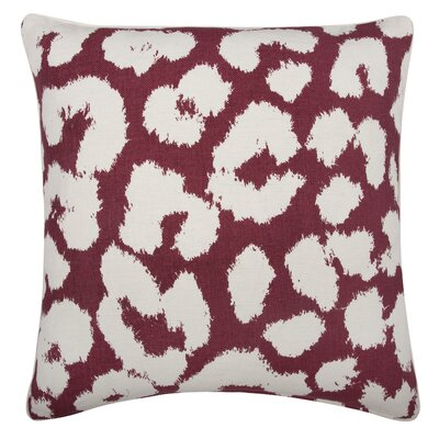 Fragments Leopard Cotton Throw Pillow Color: Ruby