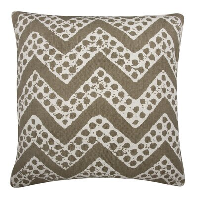Fragments Chevron Cotton Throw Pillow Color: Mushroom