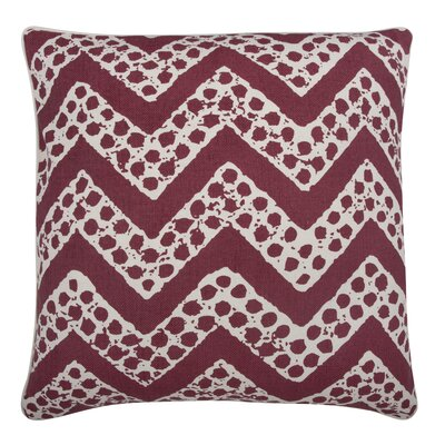 Fragments Chevron Cotton Throw Pillow Color: Ruby