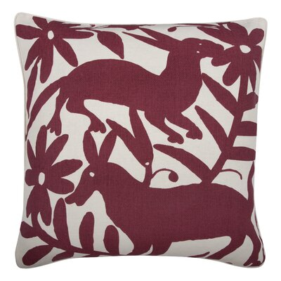 Fragments Otomi Cotton Throw Pillow Color: Ruby