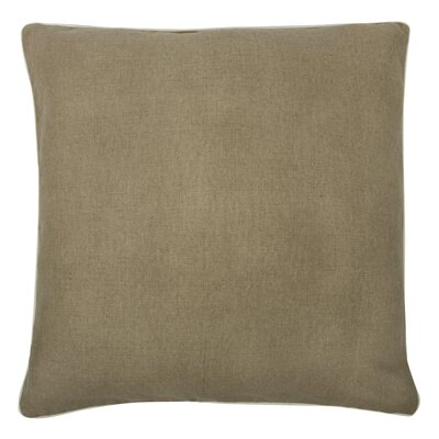 Fragments Solid Alcazar Cotton Throw Pillow Color: Mushroom