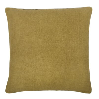 Fragments Solid Alcazar Cotton Throw Pillow Color: Ochre