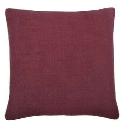 Fragments Solid Alcazar Cotton Throw Pillow Color: Ruby
