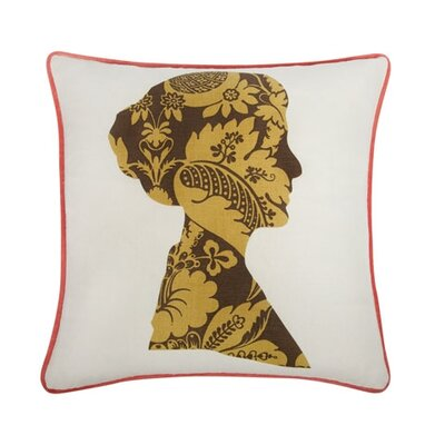 "Nelly 18"" Cotton Throw Pillow LN-0222-COC-S"