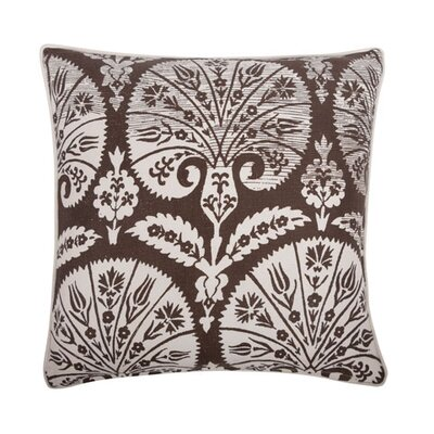 Batik Fan 18 Cotton Throw Pillow Color: Java