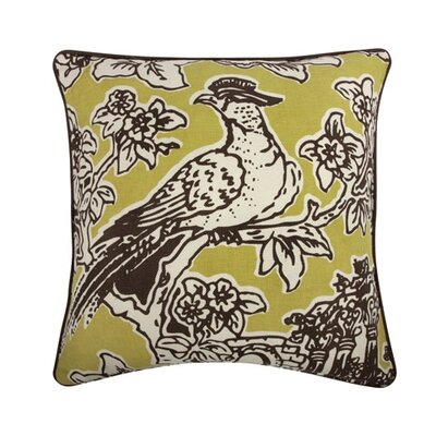 Toile 18 Cotton Throw Pillow Color: Java