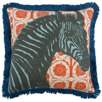 Zebra 18 Linen Throw Pillow
