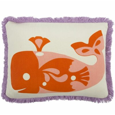 Amalfi Whale Cotton Boudoir Pillow Color: Rose