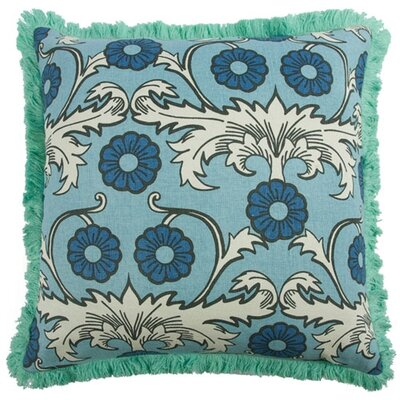 Scroll 22 Linen Throw Pillow