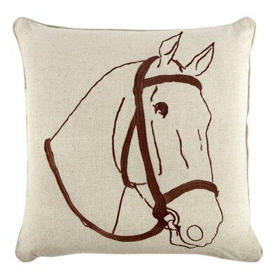 Thoroughbred 18 Linen Throw Pillow