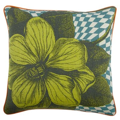 Opticbot 18 Botany Linen Throw Pillow