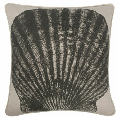 Scallop 18 Linen Throw Pillow
