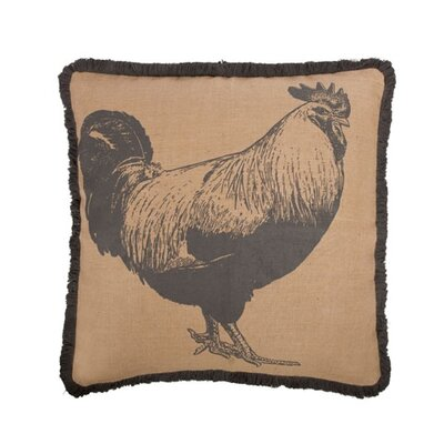 Rooster 22 Cotton Throw Pillow