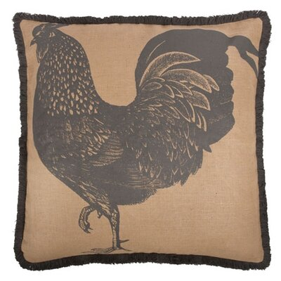 Rooster 26 Cotton Throw Pillow