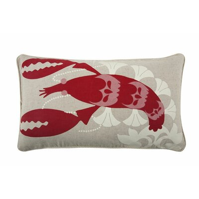Lobster 12x20 Cotton Lumbar Pillow