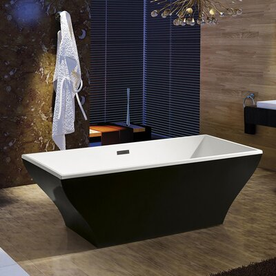66.93 x 31.5 Soaking Bathtub Finish: Black