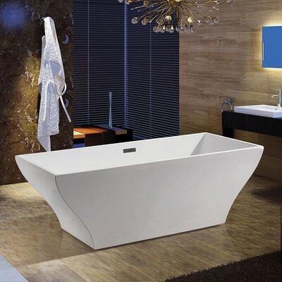 66.93 x 31.5 Soaking Bathtub Finish: White