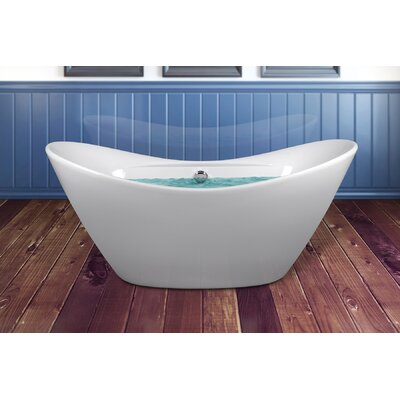 67 x 28.5 Soaking Bathtub with Faucet