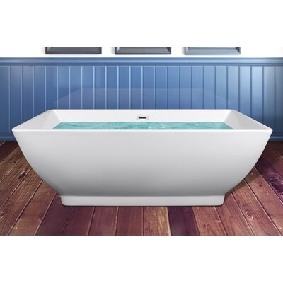 Acrylic Bathroom Freestanding Spa 65 L x 31.5 W Bathtub