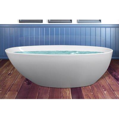 Acrylic Freestanding Modern 68.9 L x 33.5 W  Bathtub