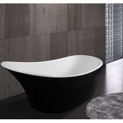 63 x 26.38 Soaking Bathtub Finish: Black