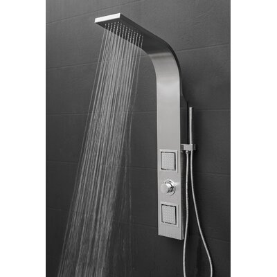 AKDY Dual Shower Head Shower Panel - Includes Rough-In Valve