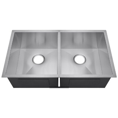 18 x 32 Double Bowl Basin Kitchen Sink
