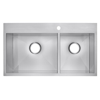 18 x 32 Double Basin Drop-In Kitchen Sink