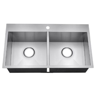 32 x 18 Double Basin Drop In Kitchen Sink