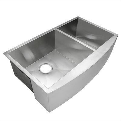 33 x 22 Double Basin Apron Kitchen Sink