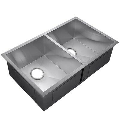 33 x 22 Double Basin Undermount Kitchen Sink