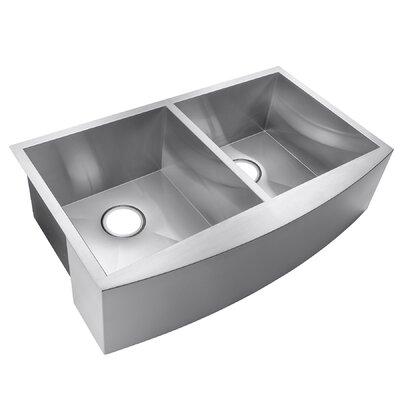 33 x 22 Double Basin Farmhouse/Apron Kitchen Sink
