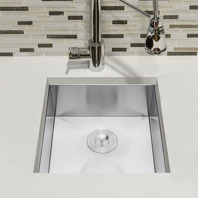 Handmade 20 x 15 Undermount Kitchen Sink with Dish Grid and Drain Strainer Kit