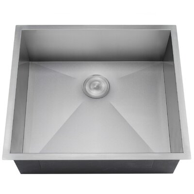 22 x 23 Undermount Kitchen Sink with Dish Grid and Drain Strainer Kit