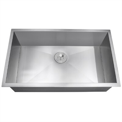 33 x 22 Undermount Kitchen Sink with Dish Grid and Drain Strainer Kit
