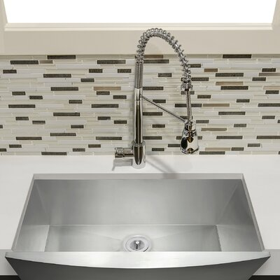 33 x 22 Farmhouse Kitchen Sink with Dish Grid and Drain Strainer Kit