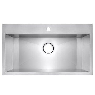 Stainless Steel 30 x 18 Drop-In Kitchen Sink