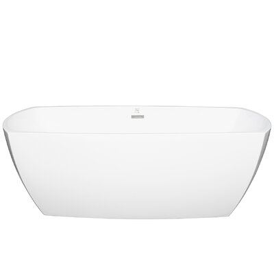 Acrylic Oval 69 x 29.5 Freestanding Soaking Bathtub