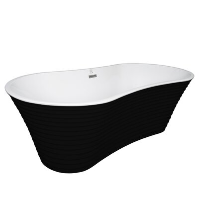 Acrylic Spa 66.5 x 33.5 Freestanding Soaking Bathtub