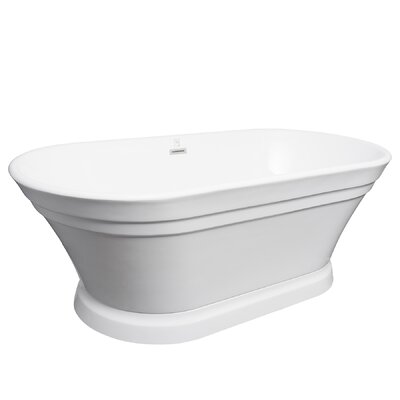 Acrylic Spa 67 x 31 Freestanding Soaking Bathtub
