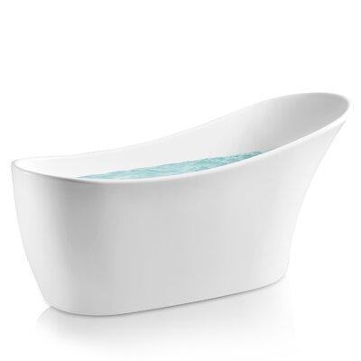 63 x 26.38 Soaking Bathtub Finish: White