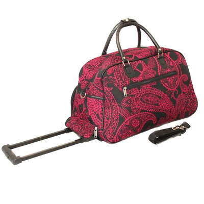 "21"" 2 Wheeled Travel Duffel Color: Pink"