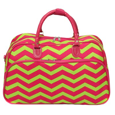 "21"" Travel Duffel Color: Pink/lemonade"