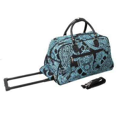 "21"" 2 Wheeled Travel Duffel Color: Blue"