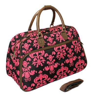 "21"" Travel Duffel Color: Brown/pink"