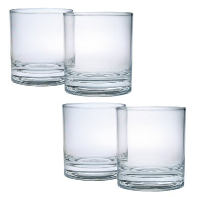 Donneville Double Old Fashioned Glass CH-4460 x set of 4