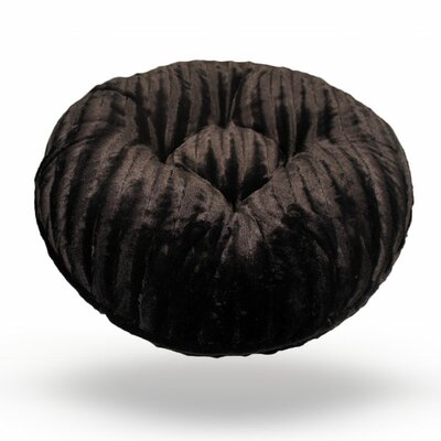 Bagel Mink Dog Bed Size: Extra Small - 24 L x 24 W, Color: Black Mink