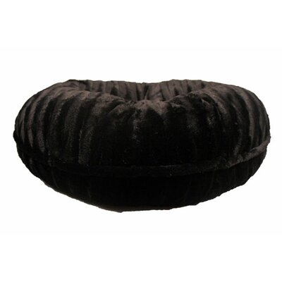 Bagel Mink Dog Bed Size: Medium - 36 L x 36 W, Color: Black Mink