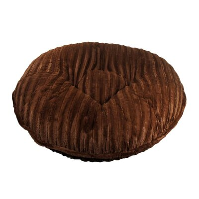 Bagel Mink Dog Bed Size: Extra Small - 24 L x 24 W, Color: Chocolate Mink