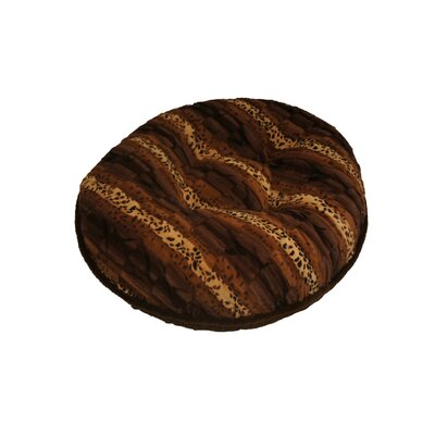 Bagel Exotic Mink Dog Bed Size: Small - 30 L x 30 W